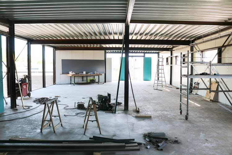 Photo of the Pick Up Limes studio when it was under construction